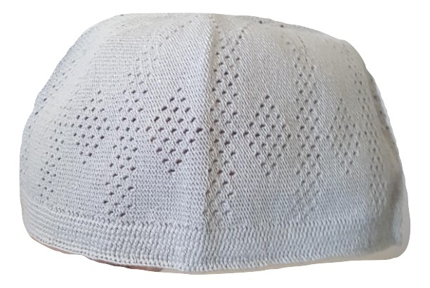 Chachia kufi gris taille L (58.5 cm, 23 inch)