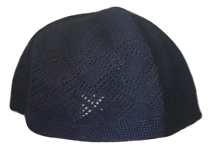 Chachia kufi noir taille L (58.5 cm, 23 inch)