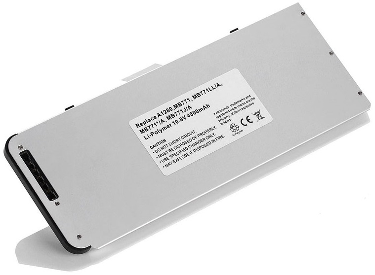 Batterie pour macbook pro 4800 Mah silver Apple A1280 MB771 MB771LL/A Macbook compatible A1278