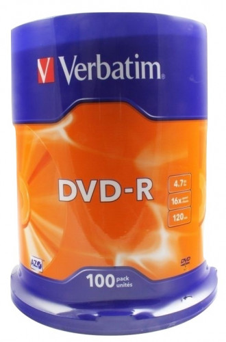 100 Pack Spindle NEUF Verbatim 4.7Go 16x DVD-R